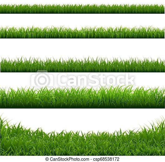 Gran colección de pastos verdes - csp68538172