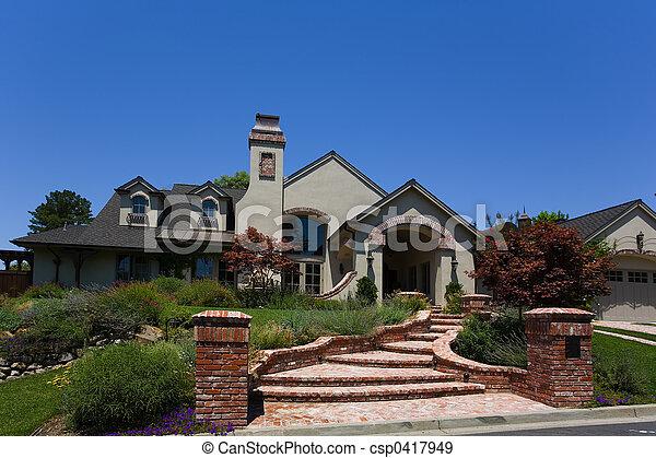grande, hogar, costumbre - csp0417949