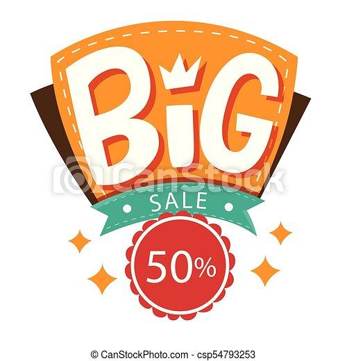 Banner gran venta 50% vector imagen círculo - csp54793253