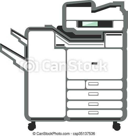 grande, impressora, copiador, escritório - csp35137536
