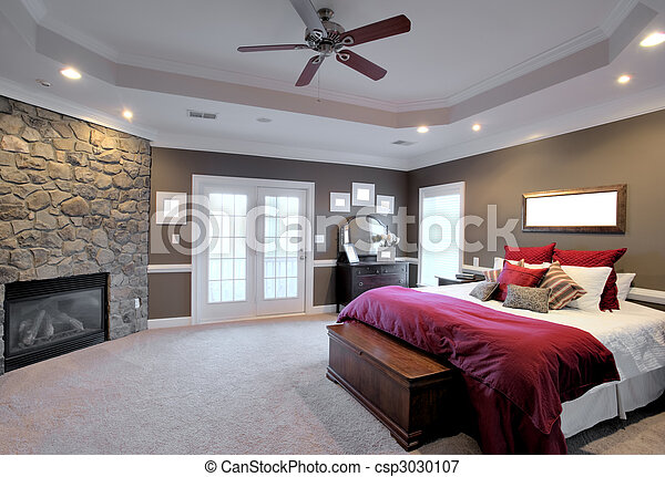 El interior del dormitorio grande - csp3030107
