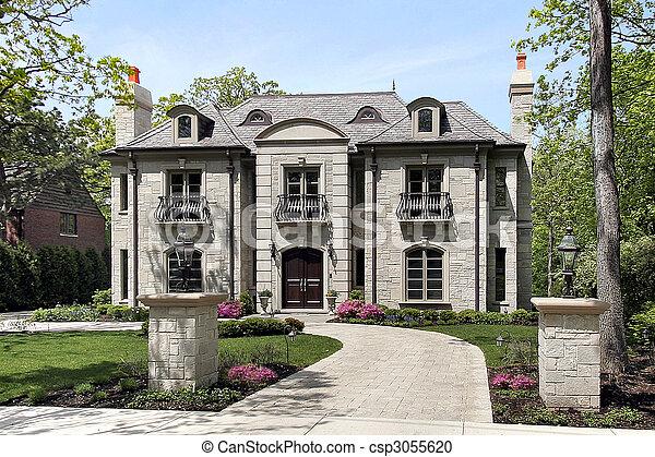 grande, lar, luxo - csp3055620