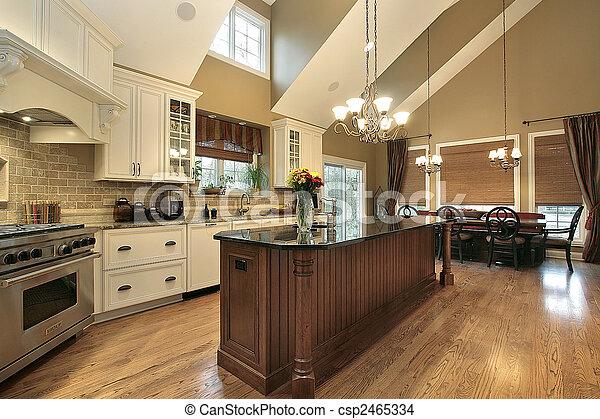 grande, lar, luxo, cozinha - csp2465334