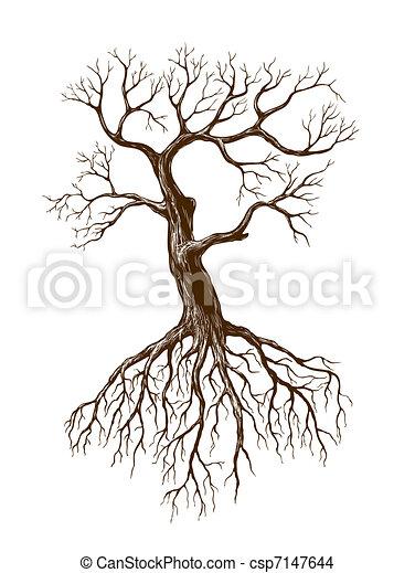 grande, leafless, árvore - csp7147644