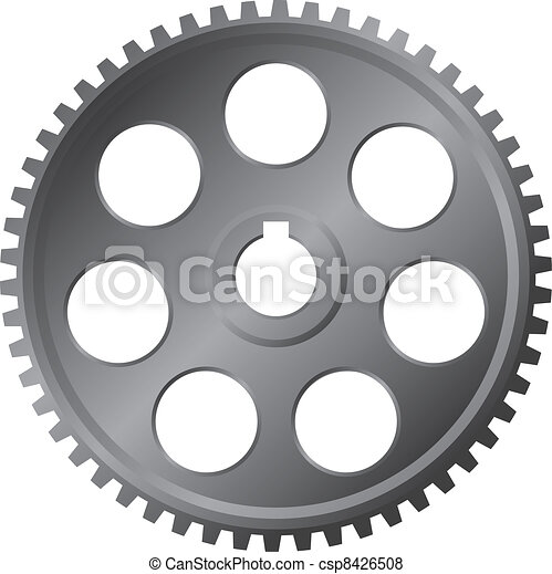 grande, metal, vetorial, -, engrenagem - csp8426508