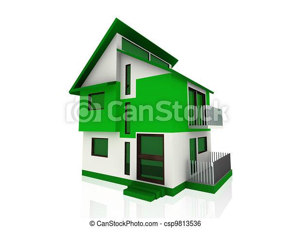 Un hogar moderno en verde - csp9813536