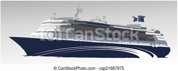 grande, navio, passageiro - csp21687975