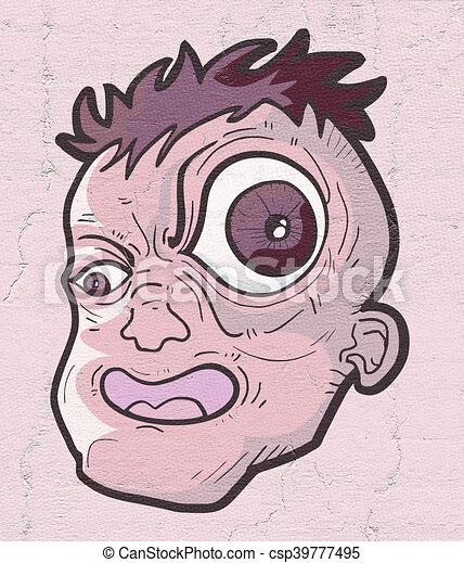 grande olho desenho criativo olho grande