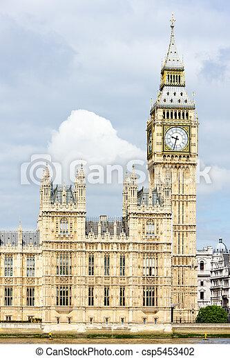 grande, parlamento, ben grande, casas, inglaterra, londres - csp5453402