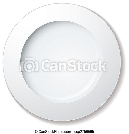 grande, piastra, cena, orlo - csp2756595