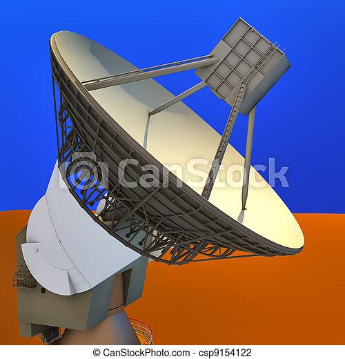 Una antena parabólica grande - csp9154122
