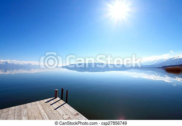 grande, prespa, lago, macedonia - csp27856749