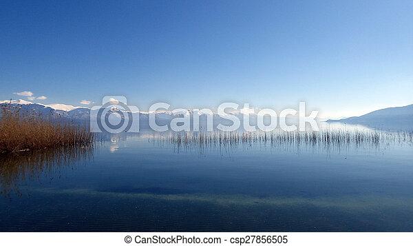 grande, prespa, lago, macedonia - csp27856505