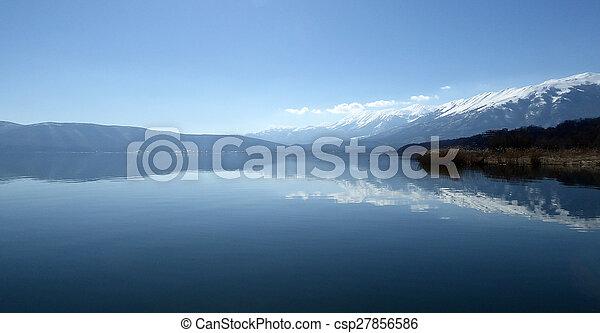 grande, prespa, lago, macedonia - csp27856586