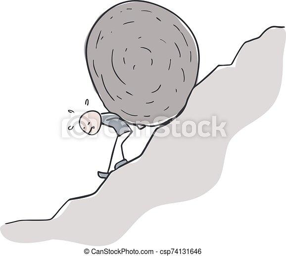 grande, roccia, disegnare - csp74131646