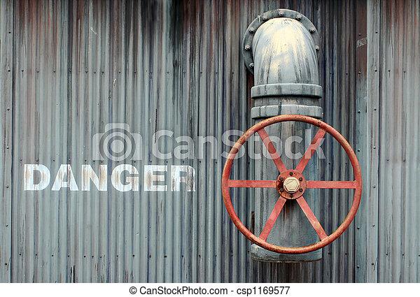 grande, ruota, valvola, pericolo - csp1169577