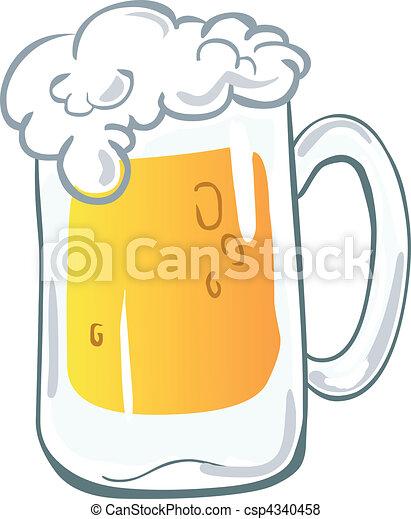 grande tasse bière - csp4340458