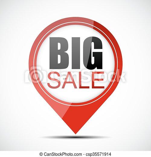 Ilustración de vectores de venta grande - csp35571914