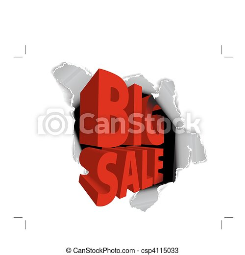 grande, venda, anúncio, desconto - csp4115033