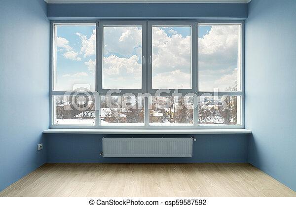 Habitación vacía con ventana grande - csp59587592