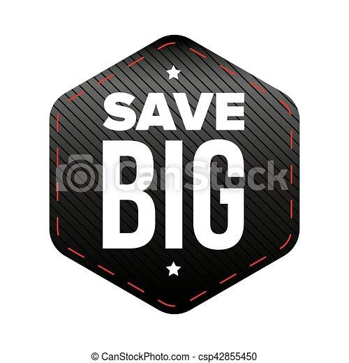 grande, vetorial, remendo, salvar - csp42855450