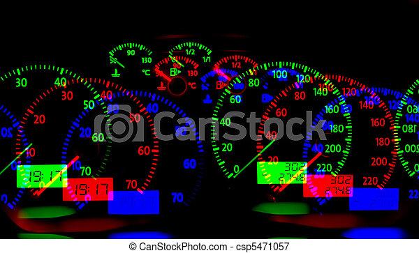 grande, y, coche, moderno, carretera, rojo - csp5471057