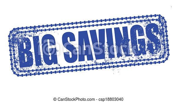 grandes économies, timbre - csp18803040