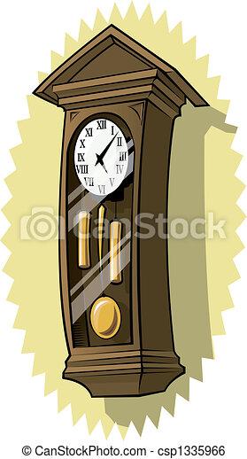 grandfather clock drawing. grandfather clock on wall csp1335966 drawing