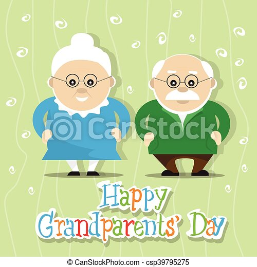 Grandfather with grandmother happy grandparents day greeting card grandfather with grandmother happy grandparents day greeting card banner csp39795275 m4hsunfo