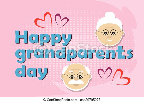 Grandfather with grandmother happy grandparents day greeting card grandfather with grandmother happy grandparents day greeting card banner csp39795277 m4hsunfo