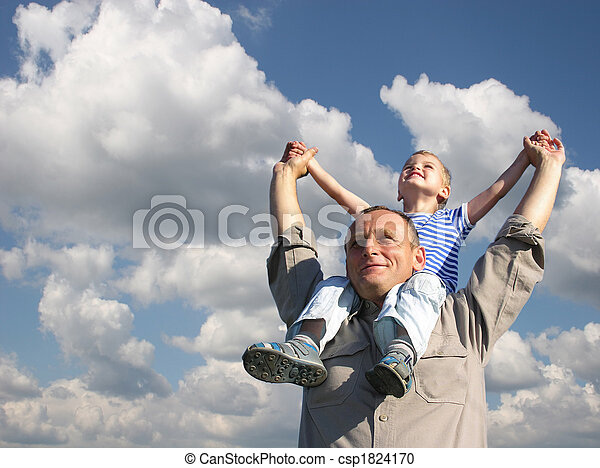 grandfather with grandson - csp1824170