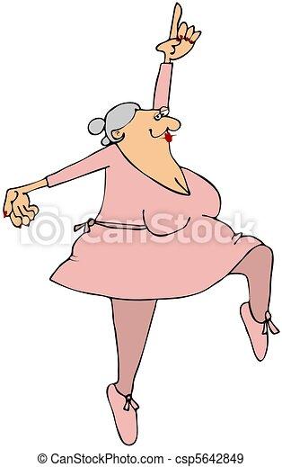 Grandma Ballerina - csp5642849
