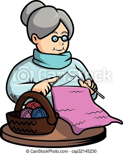 grandma crochet vector illustration design rh canstockphoto com