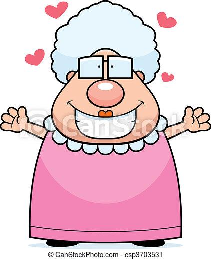 Grandma Hug - csp3703531
