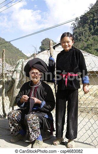 Grandmother Black Dao ethnic - csp4683082