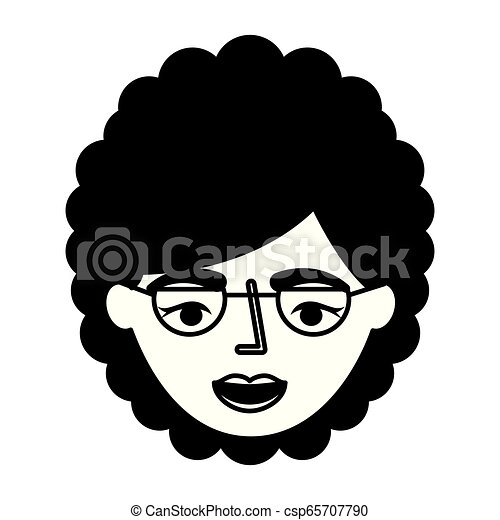 grandmother face with glasses character - csp65707790