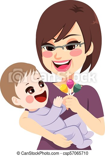 Grandmother Holding Baby Happy Grandmother Holding Rattle Playing