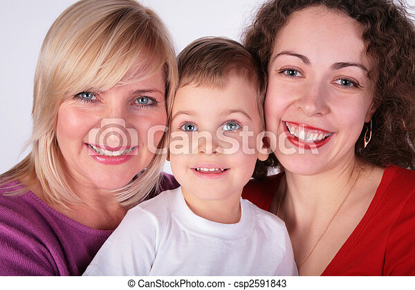 grandmother, mother, baby - csp2591843