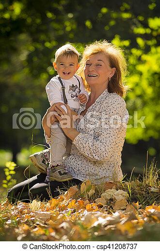 Grandmother with nephew - csp41208737