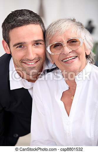 Grandmother with son - csp8801532