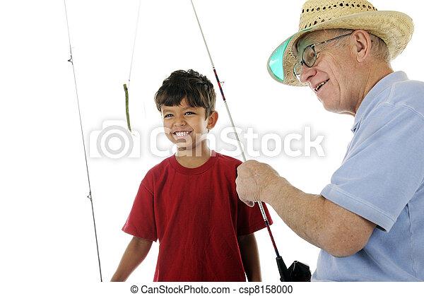 Grandpa Baits the Hook - csp8158000