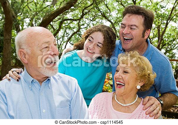 Grandpa Tells a Joke - csp1114545