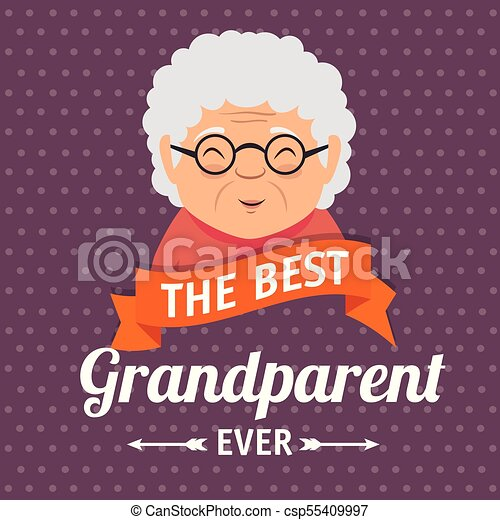 Grandparents day greeting card vector illustration graphic design grandparents day greeting card csp55409997 m4hsunfo