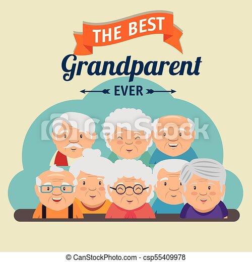 Grandparents day greeting card vector illustration graphic design grandparents day greeting card csp55409978 m4hsunfo