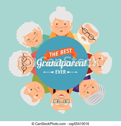 Grandparents day greeting card vector illustration graphic design grandparents day greeting card csp55410016 m4hsunfo
