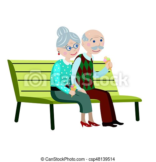 grandparents on the bench grandparents sit on a bench and vector rh canstockphoto com grandparents clip art images grandparents clip art black and white