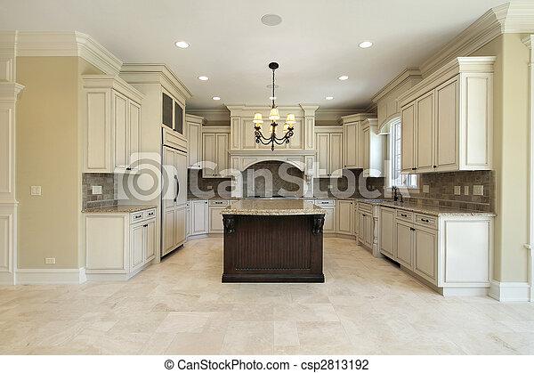 graniet, keuken, eiland - csp2813192