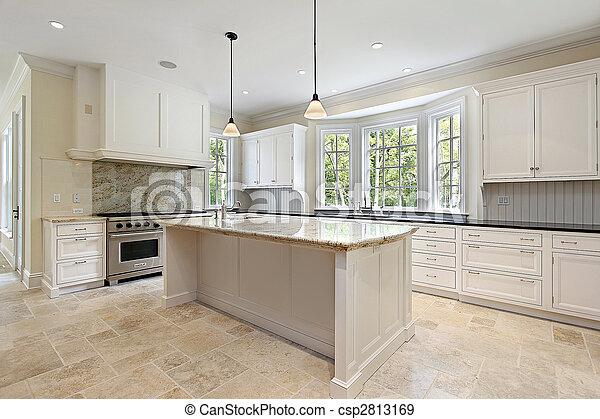 graniet, keuken, eiland - csp2813169