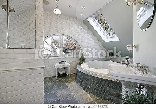Granit, Luxus, Böden, Zimmer, Bad   Csp2465823