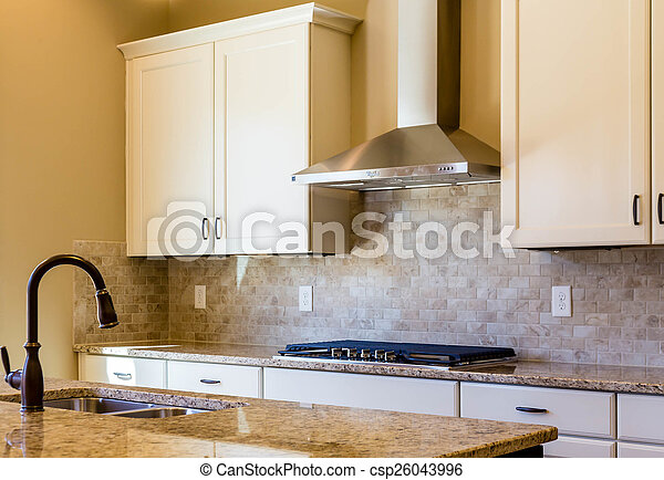 Granite And Tile Kitchen In Warm Colors